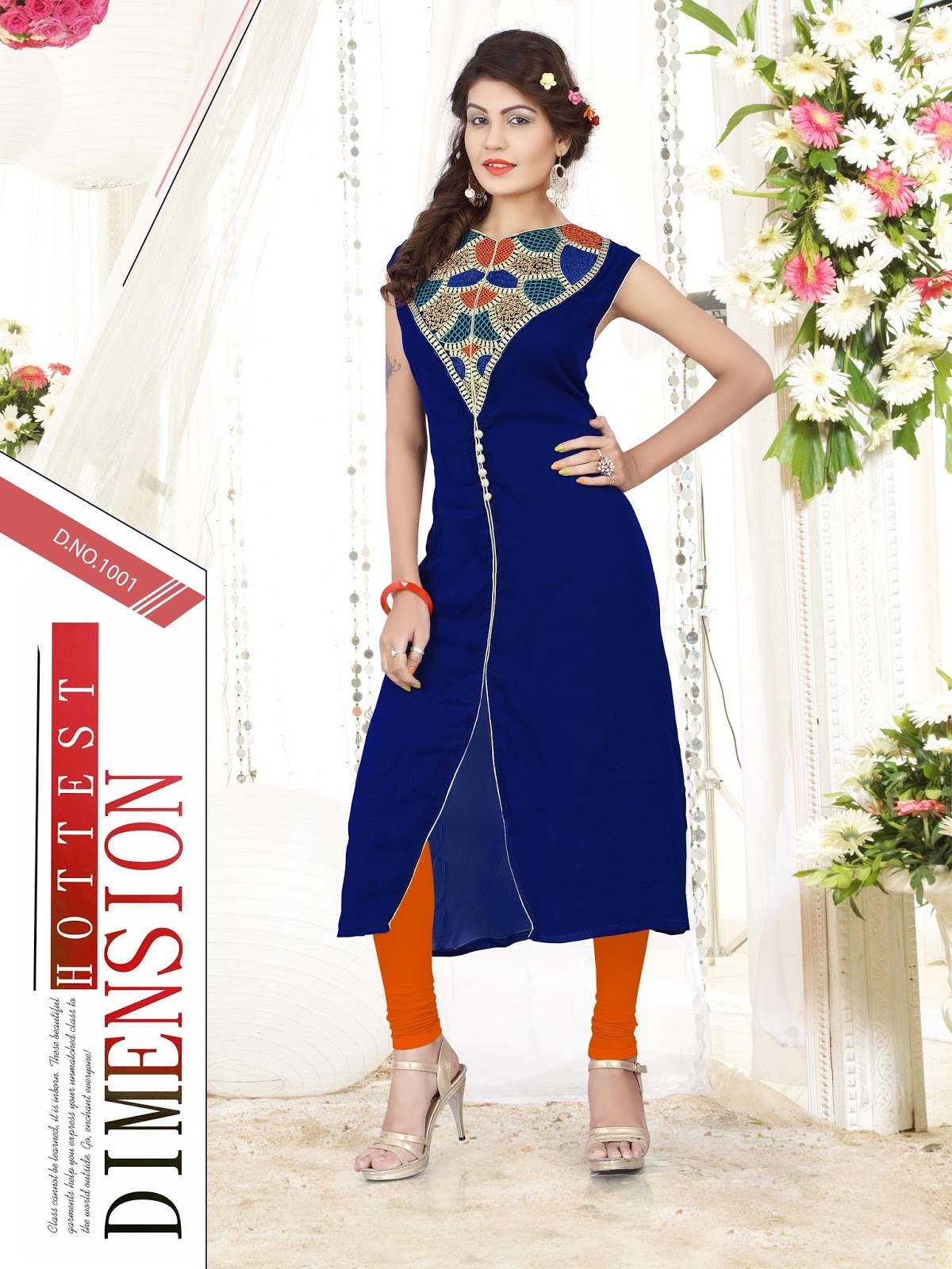 Viranya – Georgette Simple Embroidery Work Kurti