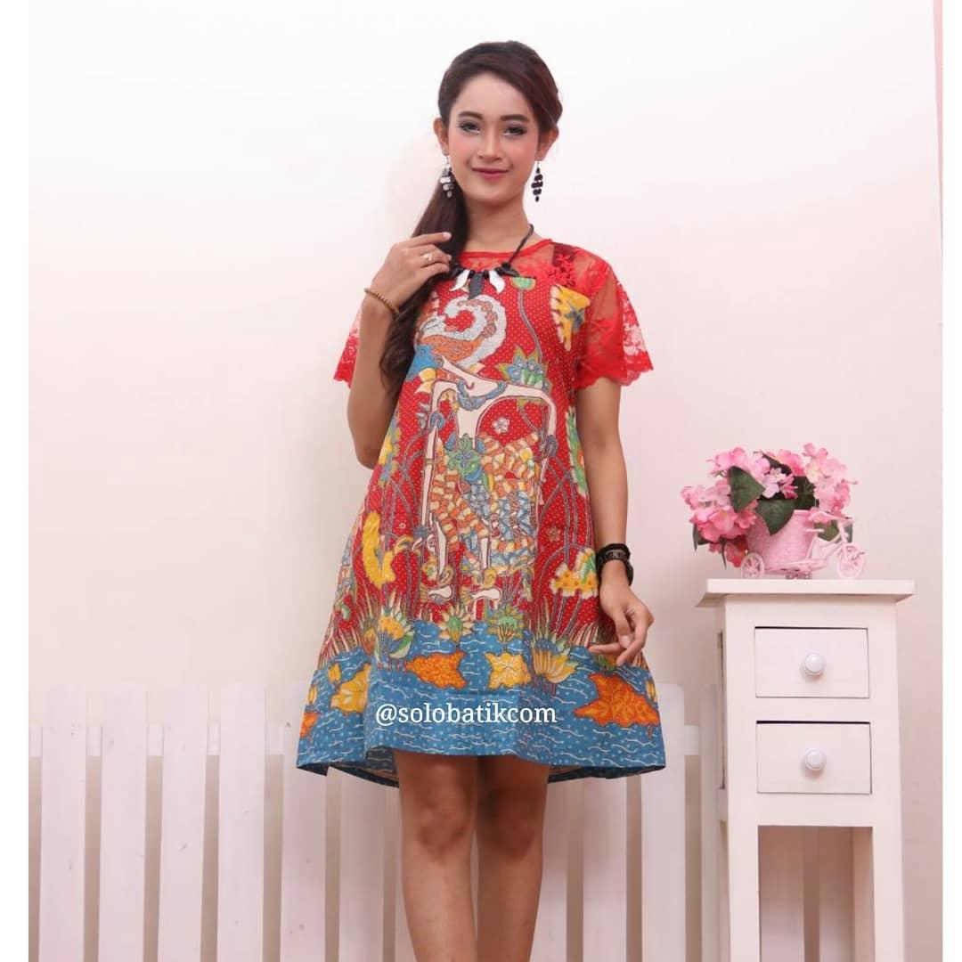 Model Baju Batik Modern Dress: Contoh Batik Wayang