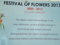 New millennium panel, Festival of Flowers - Christchurch Botanic Gardens, New Zealand