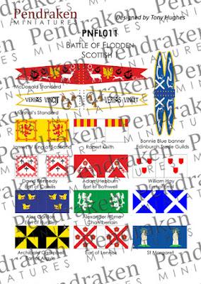 PNFL011 - Flodden Scottish, sheet 1 (14 flags/banners)