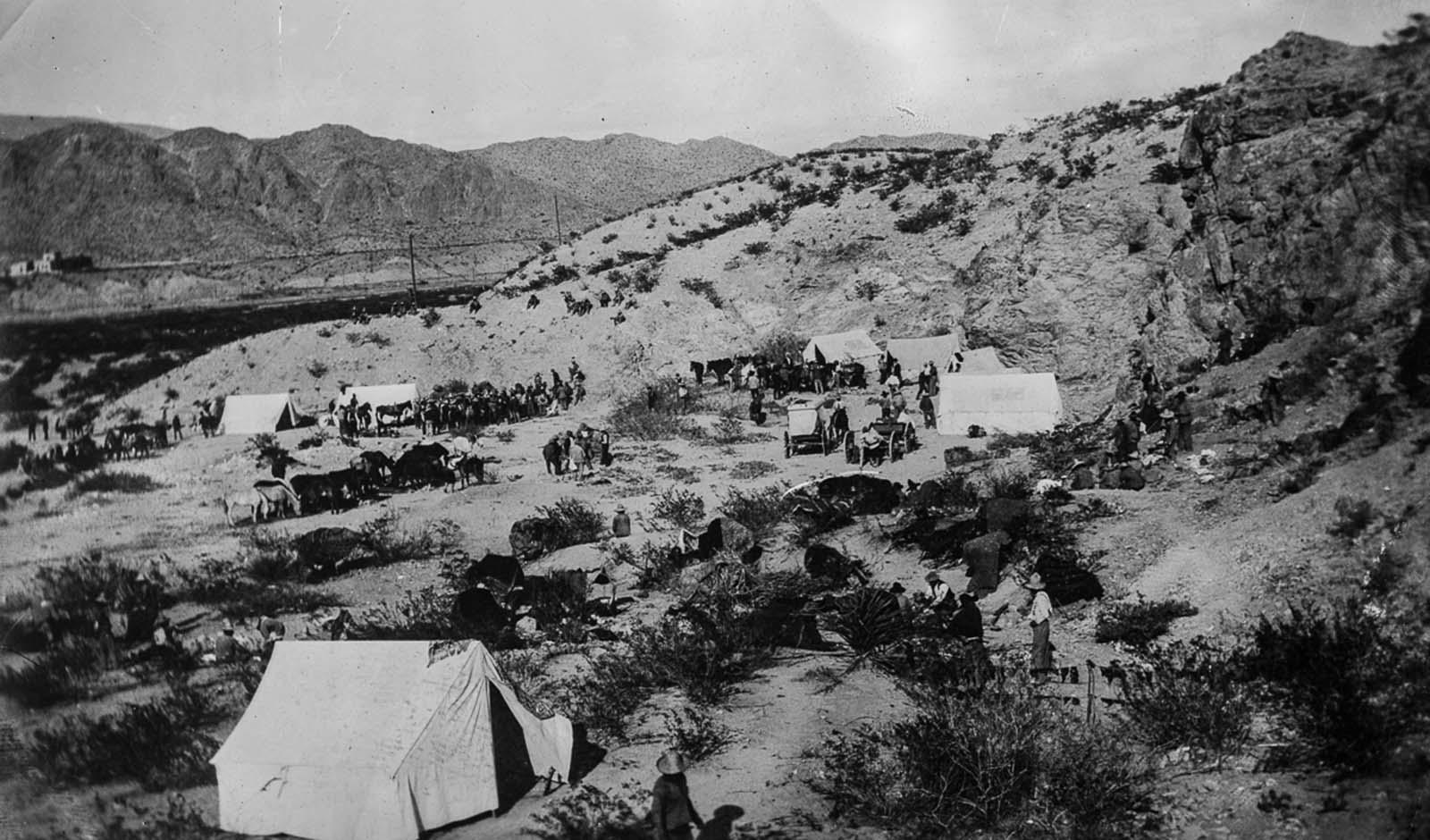 A rebel camp outside Ciudad Juárez.
