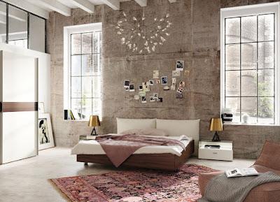 ห้องนอนที่ตกแต่งด้วย wall paper ก็สวยได้