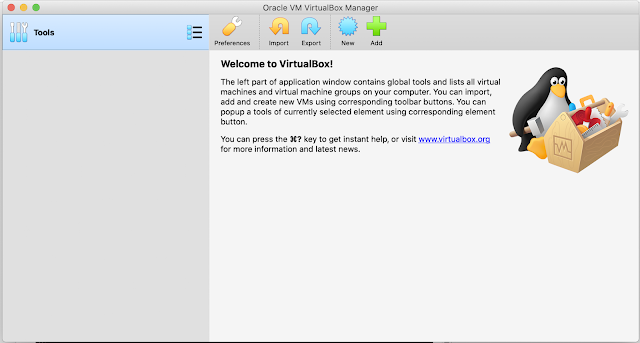 Oracle VM VirtualBox runtime on Mac OS Catalina.