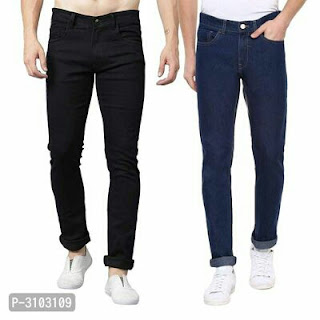 Men's Cotton Blend Slim Fit Jeans