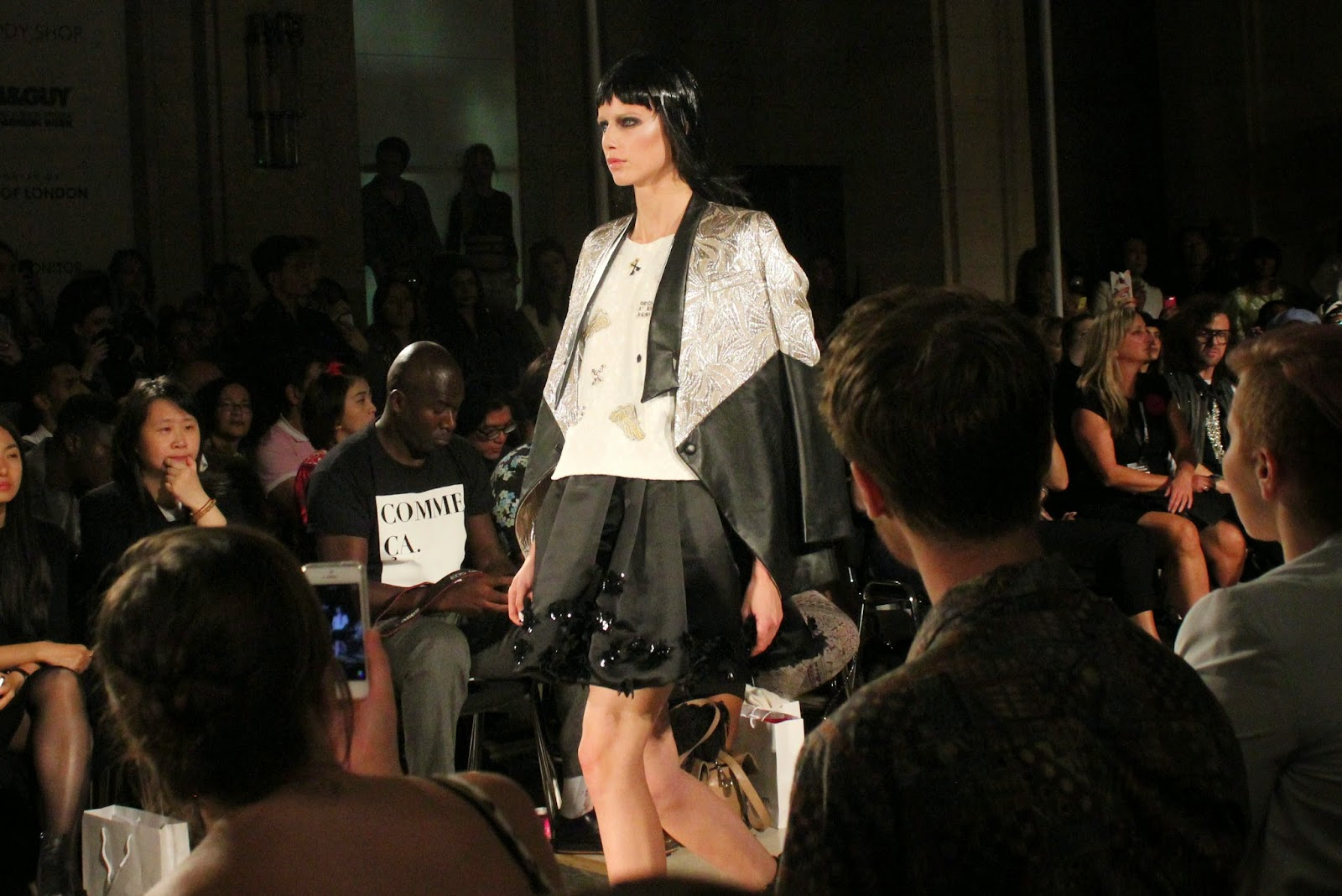 london-fashion-week-2014-lfw-spring-summer-2015-blogger-fashion-Dora-Abodi-catwalk-models-freemasons hall-fashion-scout-top-skirt-jacket-blazer