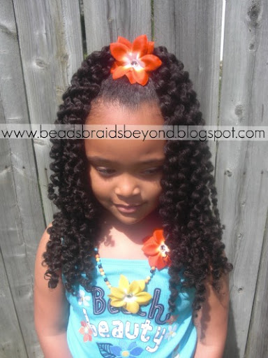 Beads Braids And Beyond Half Up Half Down Braid Out