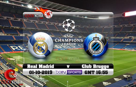 مشاهدة مباراة ريال مدريد وكلوب بروج اليوم 1-10-2019 في دوري أبطال أوروبا