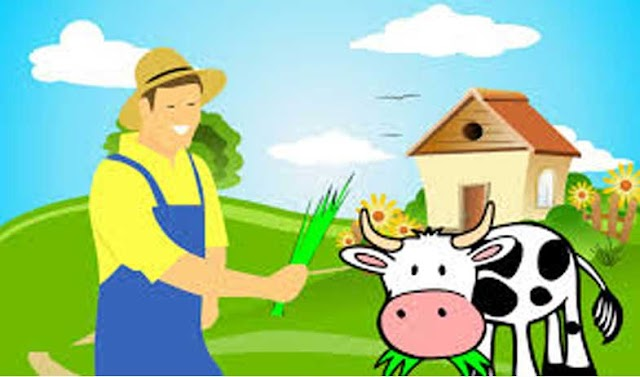 गाय की कहानी(Cow Story) - Kahani हिंदी में.