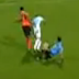 Referee slips and trips Zenit soccer player during friendly (Video)