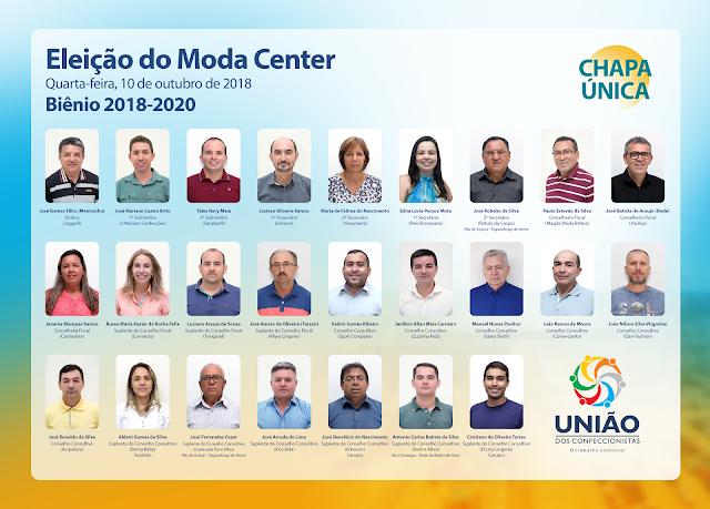 União dos Confeccionistas apresenta propostas para o biênio 2018-2020