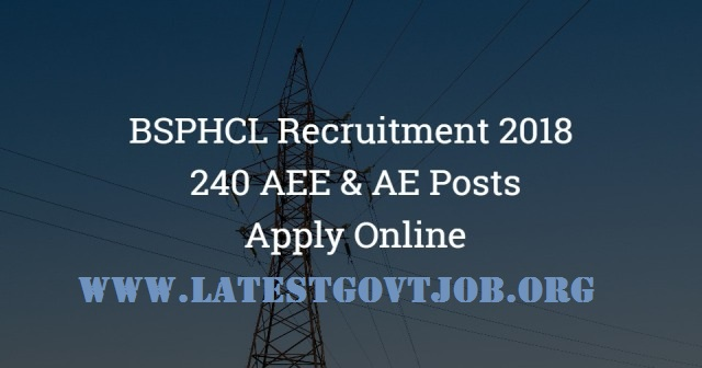 BSPCL Recruitment 2018 For Assistant Engineer Civil & Electrical 240 Vacancies | Apply Online @bsphcl.bih.nic.in