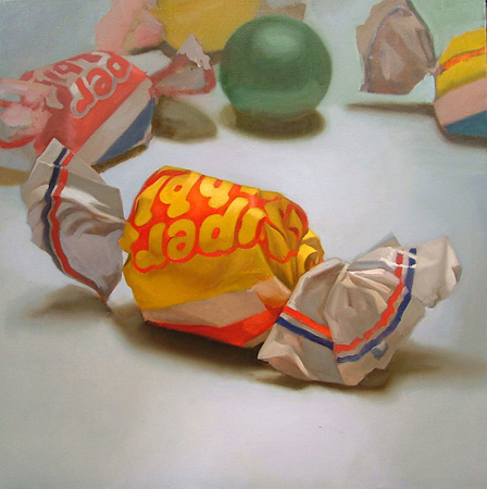 realism paintings of candy