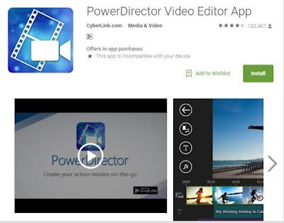 بهرنامهی PowerDirector Video Editor App بۆ سیستهمی ئهندرۆید بۆ كاری مۆنتاژ