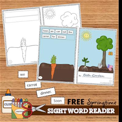 FREE Spring Sight Word Reader for Preschool, Kindergarten, 1st grade, 2nd grade