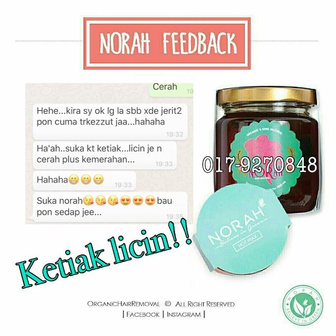 Norah wax Feedback