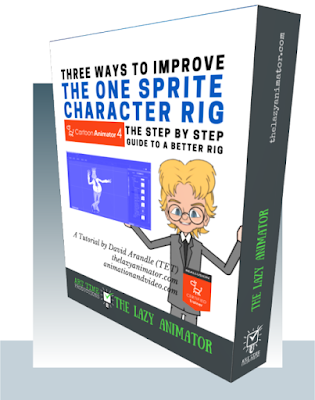 Three Ways to Improve Your One Sprite Character Rig in Cartoon Animator Tutorial Box Cover.