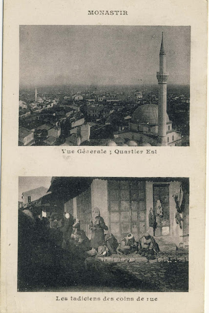 "Two part postcard, by an unknown French publisher called ""Campagne D'Orient 1914-1918"""