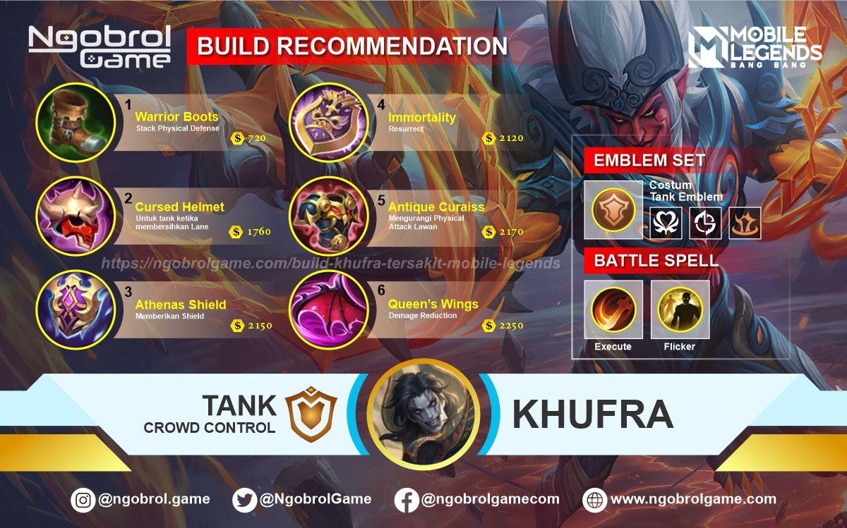 Build Khufra Top Global Tersakit Mobile Legends
