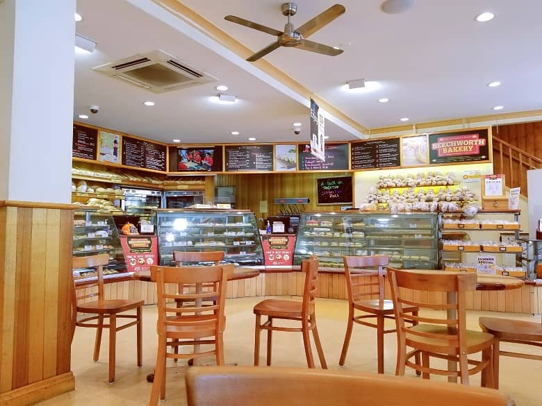 a picture inside the bakery shop