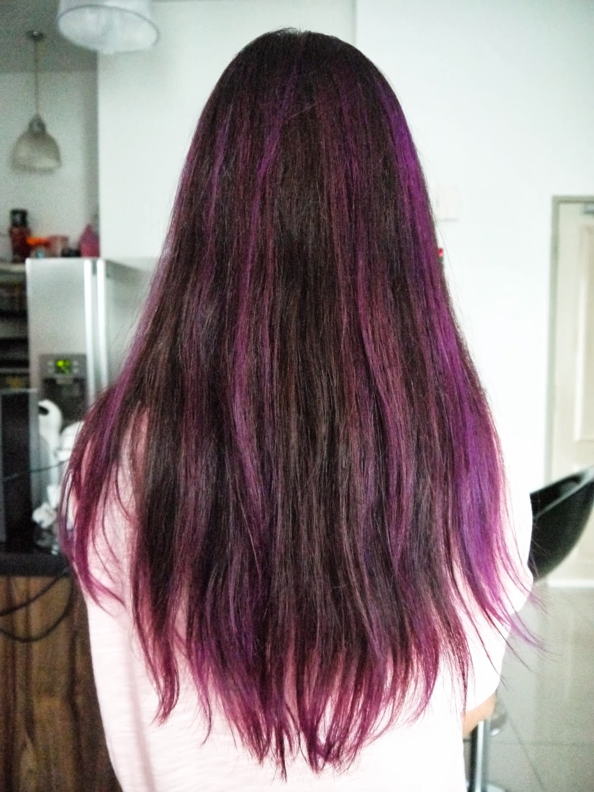 36 interesting purple highlights hair color ideas hairstylo purple highlights 24 pmusecretfo Image collections