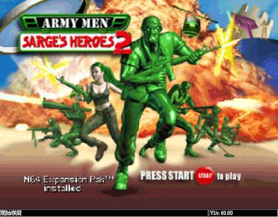 【N64】玩具兵團:空戰+軍士英雄1+2系列合集,Army Men:Air Combat、Sarges Heroes!
