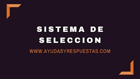 SISTEMA DE SELECCION