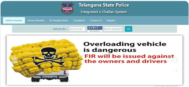e Challan Telangana Traffic Police