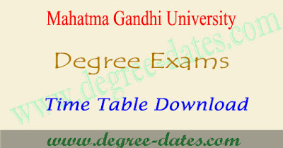 MG University degree time table 2018 mgu ug exam dates