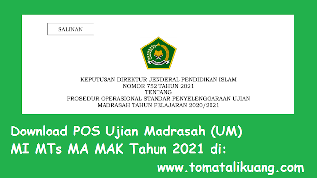 pos ujian madrasah um mi mts ma mak tahun 2021 pdf tomatalikuang.com