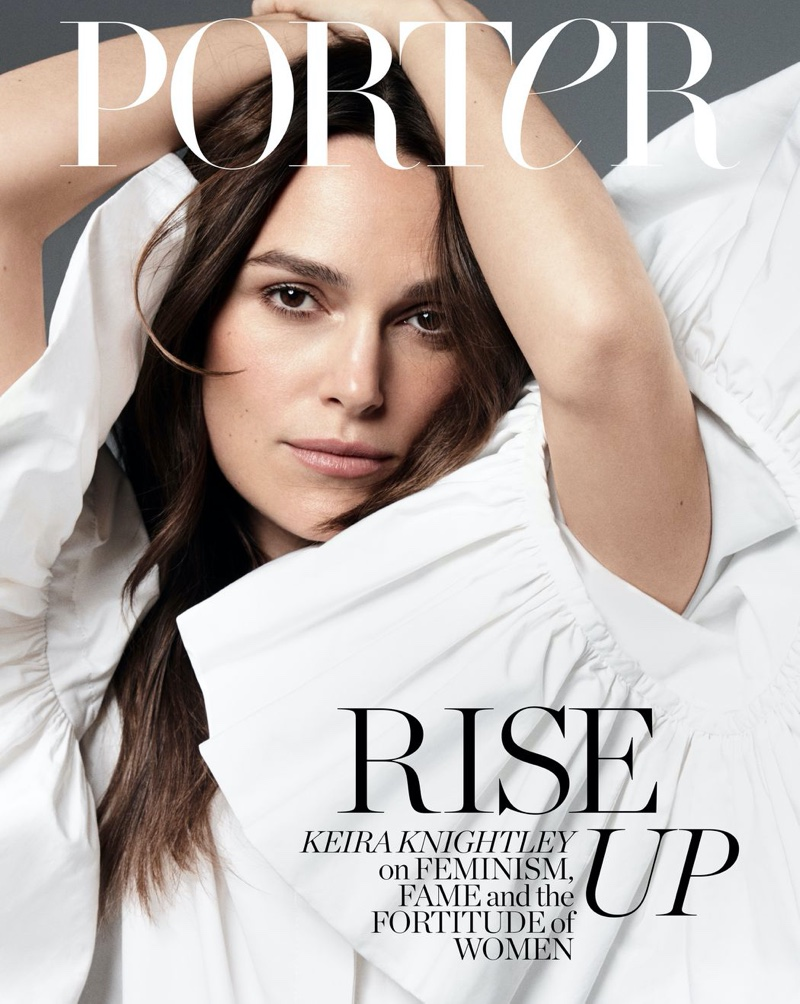 Keira Knightley wear elegant ensembles for Porter Edit March 2020