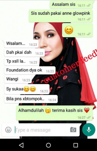 anne glow pink foundation testimoni