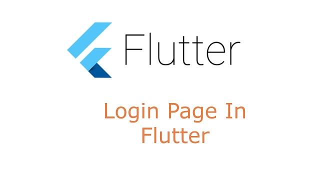 Login Page in Flutter