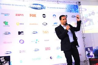 Prefeito Nilton Hirota e esposa  prestigiaram o lançamento do serviço de TV da Infovale