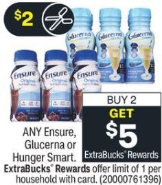 Ensure Nutrition Shakes CVS Deal 2-7-2-13
