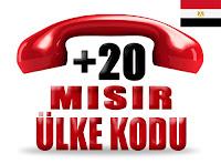 +20 Mısır ülke telefon kodu