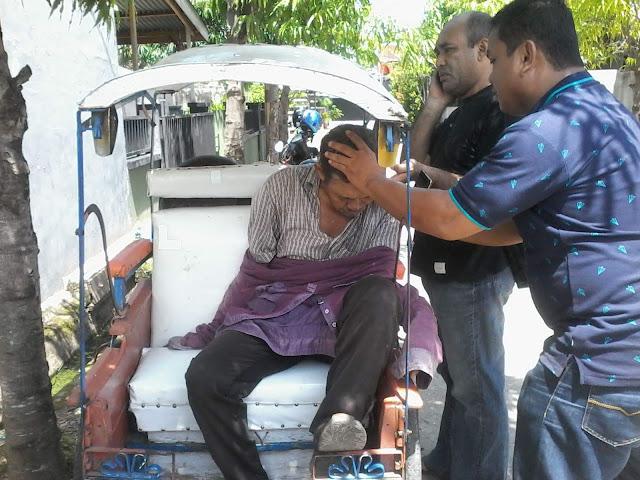 Dg Tompo Ditemukan Tergeletak di Atas Becak di Palopo