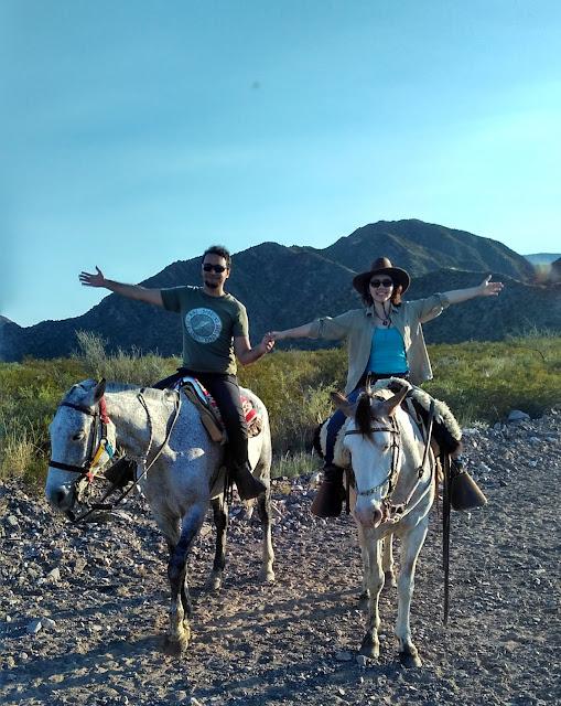 Cavalgadas na pré-cordilheira dos Andes, em Mendoza.