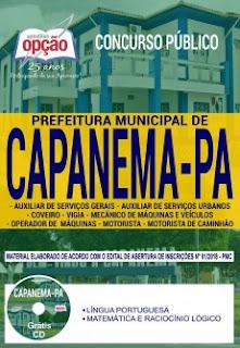 Download Apostila Prefeitura de Capanema 2018 PDF