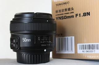 Lensa Fix Yongnuo AF-S 50mm f/1.8 For Nikon