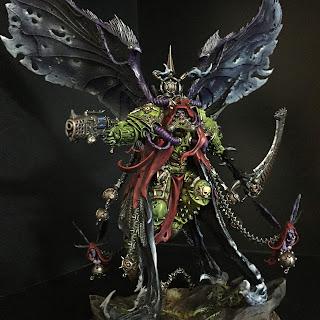 Painting Mortarion daemon primach 40k Death guard