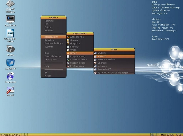 Antix 17 - Μην πετάξετε το παλιό σας PC, βάλτε του Antix