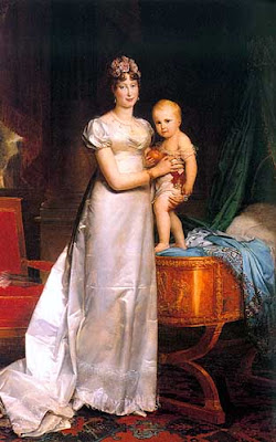 Portrait of  Marie-Louise, Empress of the French, and the Roi de Rome by François Gérard, 1813