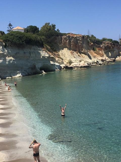 Ich im Meer bei Limenas Chersonisou