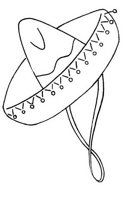 Colorea tus dibujos sombrero mexicano para colorear y pintar for Mexican sombrero coloring page