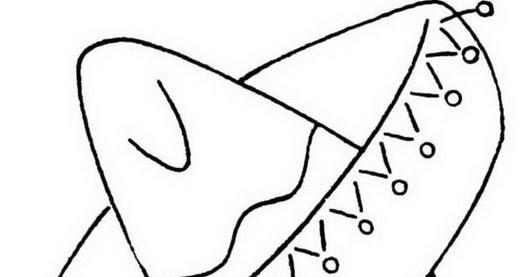 Dibujo Facil Sombrero Mexicano Para Colorear Y Pintar