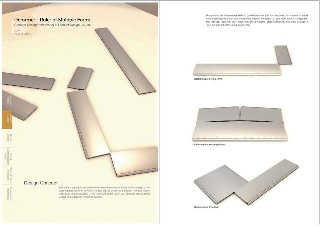 變形者: 多型態工具尺,梁又文老師設計作品集,工業設計,產品設計,文創商品設計