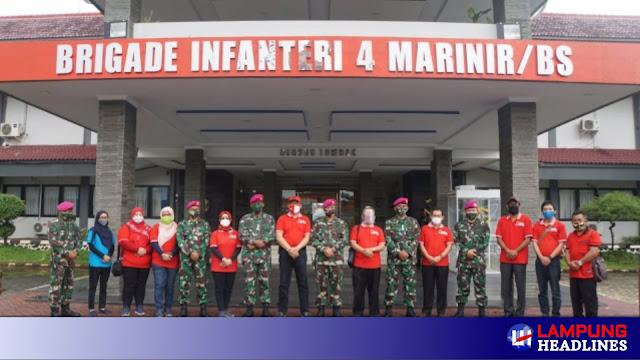 Kunker Wakil Rektor UBL Beserta Rombongan Ke Mako BRIGIF 4 MARINIR/BS