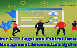 Unit VIII: Legal and Ethical Issues - Management Information System