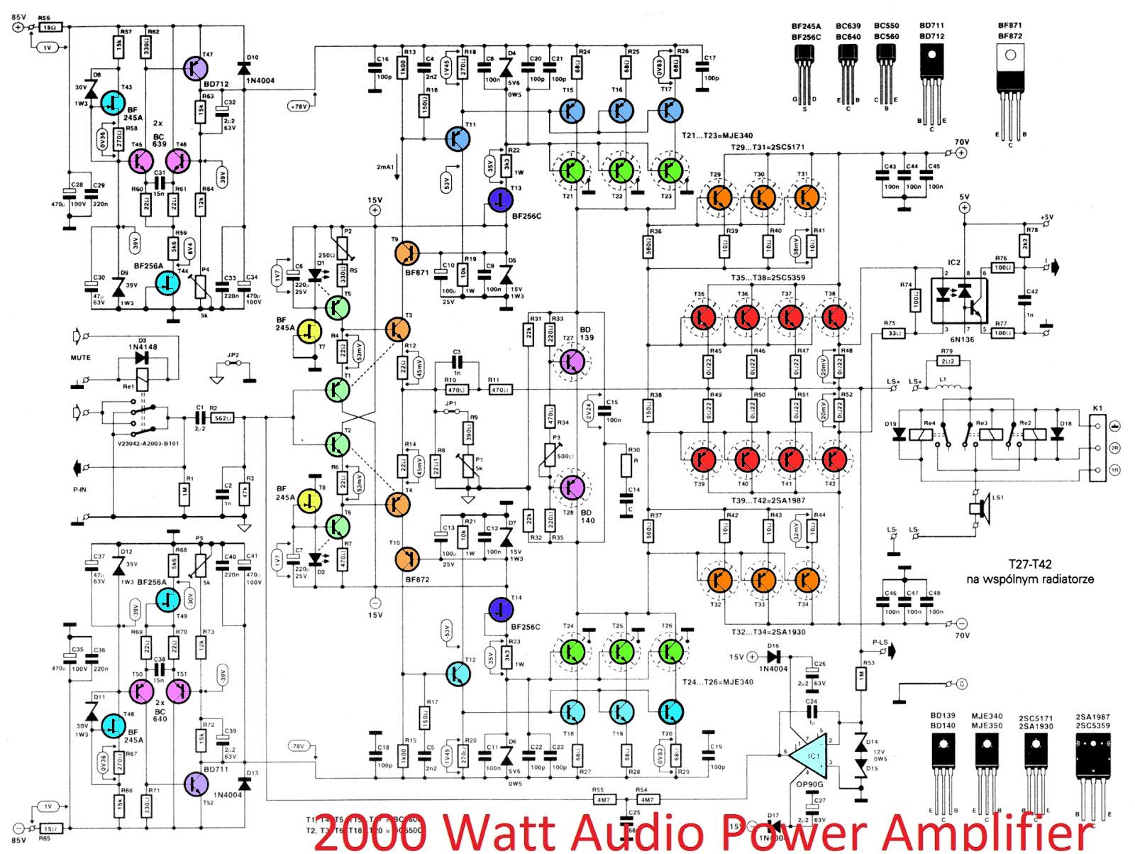 Circuit Diagram Of If Amplifier Diy 30 Watt Stereo Gadgetronicx 2000w High Power 2sc5359 2sa1987 Electronic