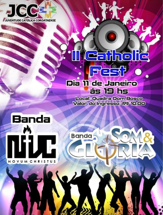 Vem ai II Catholic Fest na cidade de Coroatá, com as bandas SOM E GLÓRIA e NOVUM CHRISTUS